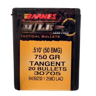 Barnes Bullets TAC-LR 50 BMG.750 Grain, Tanget Boattail, Per 20