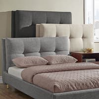 Dallan Plush Tufted Padded Headboard Bed by iNSPIRE Q Modern