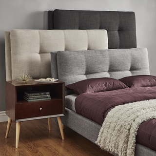 iNSPIRE Q Dallan Full Size Plush Tufted Padded Headboard Bed