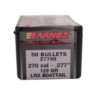 Barnes Bullets Long Range X 270 Caliber, 129 Grain,  Boattail, Per 50