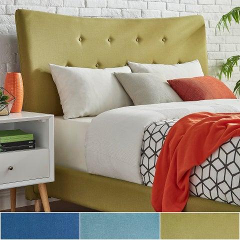 Azura Button Tufted Linen Fabric Headboard by iNSPIRE Q Modern
