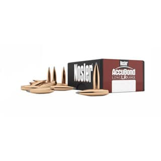 Nosler 30 Caliber Bullets AccuBond Long Range, 210 Grains, Spitzer Point, Per 100