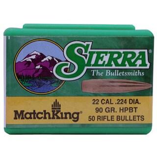 Sierra Bullets 22 Caliber (.224) 90 Gr HPBT/50