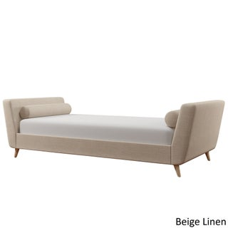 Sonja Linen Fabric Daybed by iNSPIRE Q Modern (Option: Beige Linen)