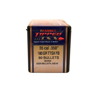 Barnes Bullets Triple-Shock X 35 Caliber, 180 Grain, Tipped  Spitzer FLat Base, Per 50