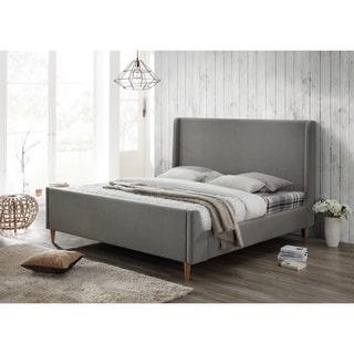 Bedford Grey Upholstered King Platform Bed