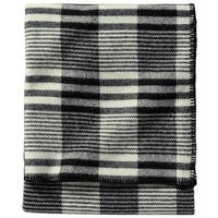Pendleton Machine Washable Ivory Plaid Contempo Blanket