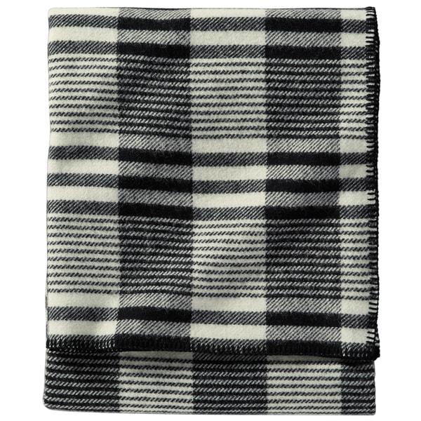 Pendleton Machine Washable Ivory Plaid Contempo Blanket