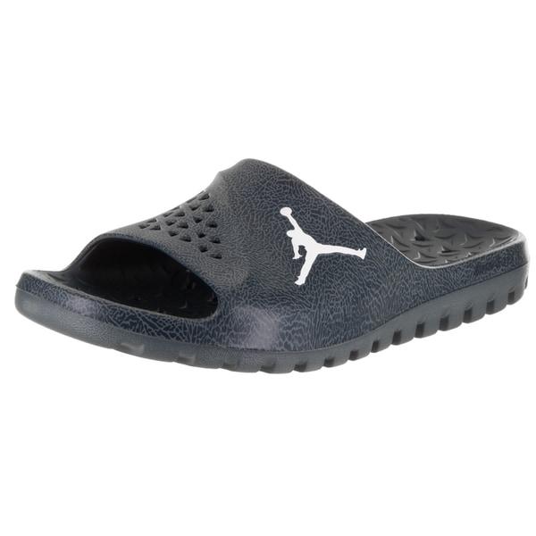c430468b19f734 Nike Men's Jordan Super Fly Team Slide 2 Blue Synthetic Leather Sandals