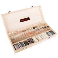 Stalwart 228 Piece Rotary Tool Accessories Kit in Wooden Case