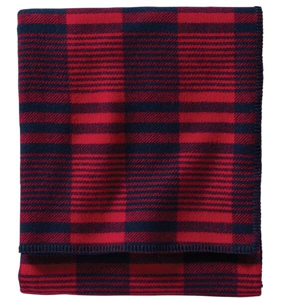 Pendleton Machine Washable Red Cardinal Plaid Blanket