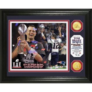 Tom Brady Super Bowl 51 Trophy Bronze Coin Photo Mint