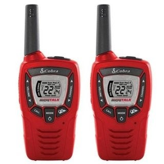 Cobra CRS399 22-Channel Red Up to 30-mile Range Walkie Talkies with NOAA Weather