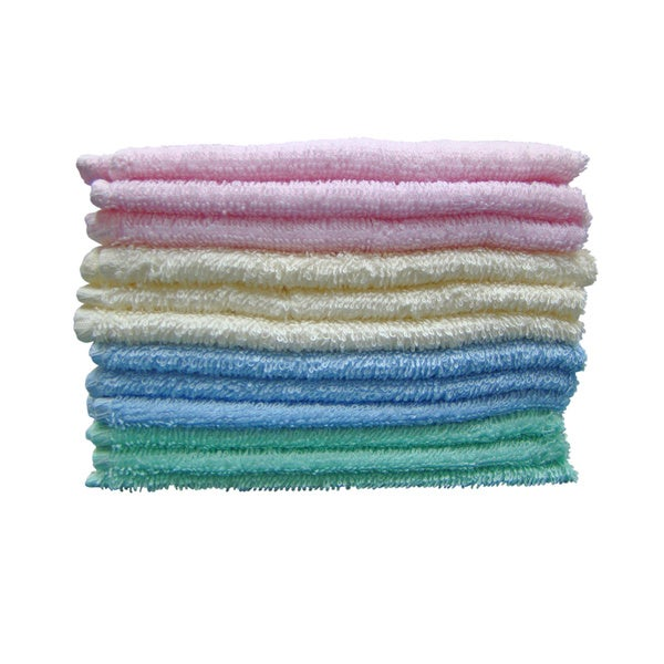 Textiles Plus Deluxe Wash Cloth (Set of 12 Assorted Colors)
