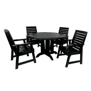 Highwood Eco-friendly Weatherly 5-piece Round Outdoor Dining Set