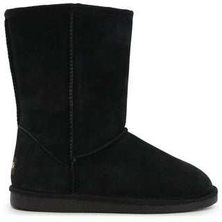 Lamo Women's Black Suede and Faux Fur 9-inch Boots