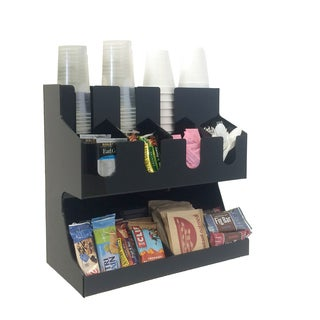 Mind Reader Fancy Black Acrylic Jumbo Condiment Organizer