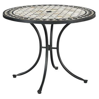 Marble patio furniture find great outdoor seating dining deals marble top round outdoor dining table by home styles watchthetrailerfo
