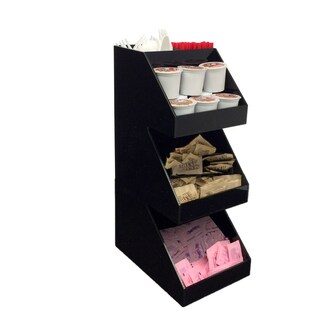 Mind Reader 'Fancy' Black Acrylic 3-tier Condiment Organizer