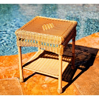Tortuga Outdoor Portside Side Table - Southwest Amber