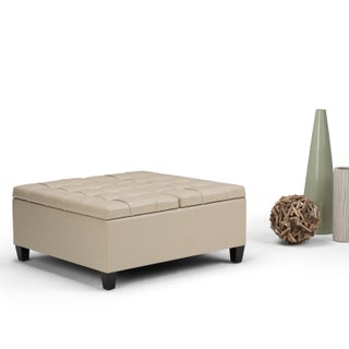 WYNDENHALL Elliot Coffee Table Storage Ottoman with Lift Top
