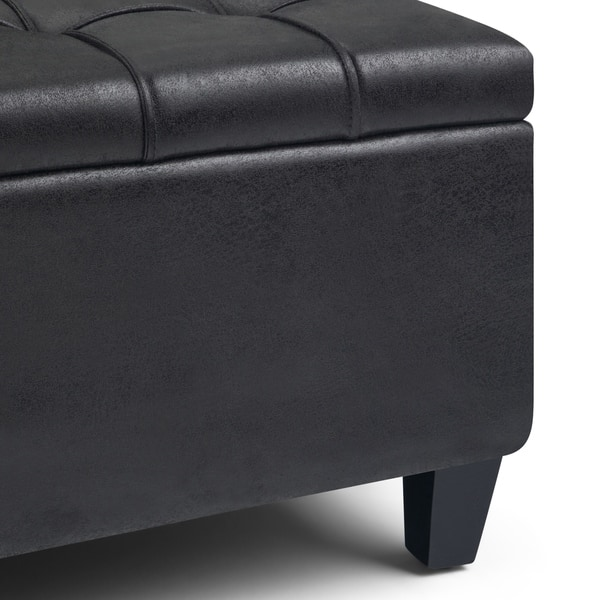 Ideas About 36 Inch Leather Storage Ottoman