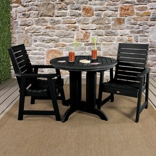 Weatherly 3pc Round Outdoor Dining Set