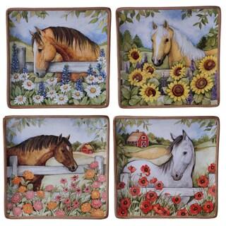 Certified International Heartland Ceramic 10.5-inch Assorted Designs Dinner Plates (Pack of 4)