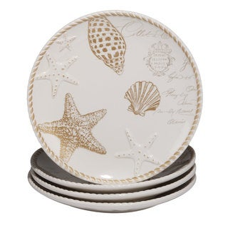 Certified International Coastal Discoveries Ceramic 11-inch Dinner Plates (Pack of 4)