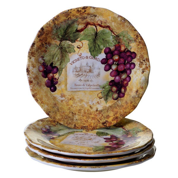 Certified International Gilded Wine Ceramic 10 75 Inch