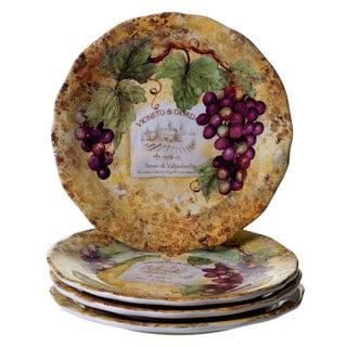 Certified International Gilded Wine Ceramic 10.75-inch Dinner Plates (Set of 4)  sc 1 st  Overstock & Certified International Gilded Wine 16 -Piece Dinnerware Set - Free ...