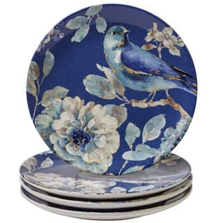 Certified International Bird-themed Salad/Dessert Plates (Set of 4)
