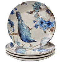Certified International Indigold Ceramic 11-inch Bird Dinner Plates (Pack of 4)