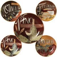 Certified International Bella Vita Ceramic Pasta Bowls (Pack of 5)