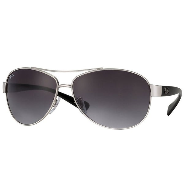 f1e601a825 Ray-Ban RB3386 003 8G Silver Black Frame Grey Gradient 67mm Lens Sunglasses
