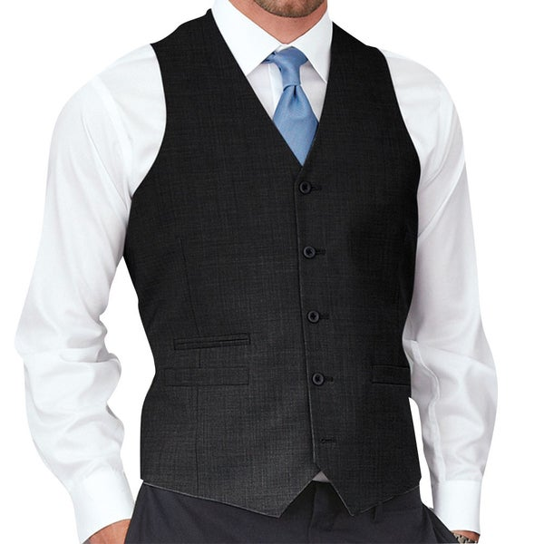Affinity Apparel Mens Solid-colored Five-button Vest by  Modern