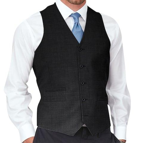Affinity Apparel Men's Solid-colored Five-button Vest