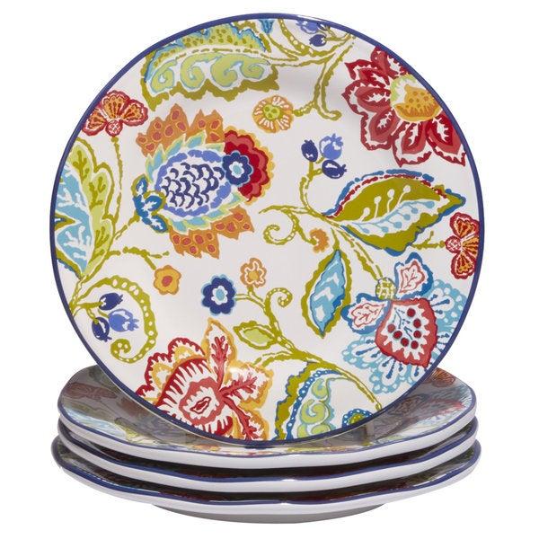 Certified International San Marino Multicolored Ceramic 8.75-inch Hand-painted Dessert Plates (Set  sc 1 st  Overstock.com & Certified International San Marino Multicolored Ceramic 8.75-inch ...