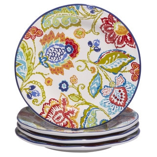 Certified International San Marino Multicolored Ceramic 8.75-inch Hand-painted Dessert Plates (Set of 4)