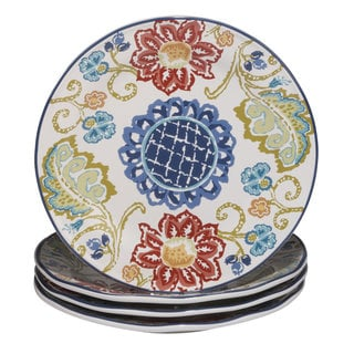Certified International San Marino Ceramic 11.25-inch Dinner Plates (Pack of 4)