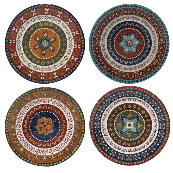 Certified International Monterrey Multicolored Ceramic 11.25-inch Dinner Plates (Set of 4 in Varying  sc 1 st  Overstock.com & Certified International Monterrey Multicolored Ceramic 11.25-inch ...