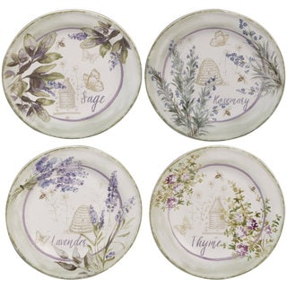Certified International Herbes de Provence 8.75-inch Salad/Dessert Plates, Set of 3 in Assorted Designs