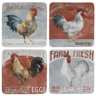 Certified International Farm House 8.5-inch Ceramic Salad and Dessert Plates (Set of 4)
