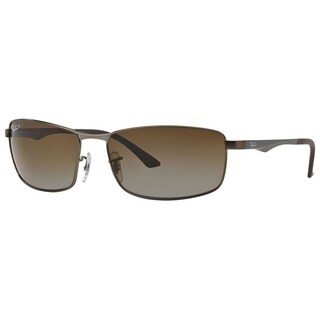 Ray-Ban RB3498 029/T5 Gunmetal Frame Polarized Brown Gradient 64mm Lens Sunglasses