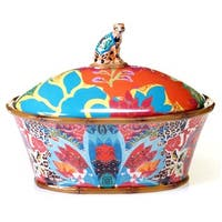 Tracy Porter for Poetic Wanderlust 'Magpie' Earthenware 11-inch 3-D Covered Bowl
