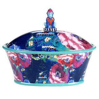 Tracy Porter for Poetic Wanderlust 'Reverie' Multicolored Earthenware 11-inch 3-D Covered Bowl