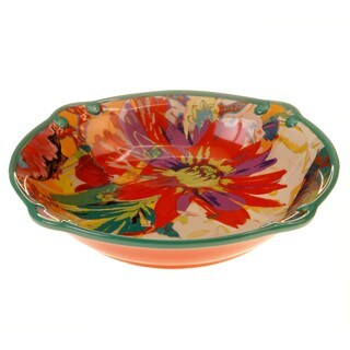 Tracy Porter for Poetic Wanderlust 'Scotch Moss' Earthenware 13-inch Pasta/Serving Bowl