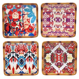 Tracy Porter for Poetic Wanderlust 'Imperial Bengal' 6-inch Assorted Canape Plate (Pack of 4)