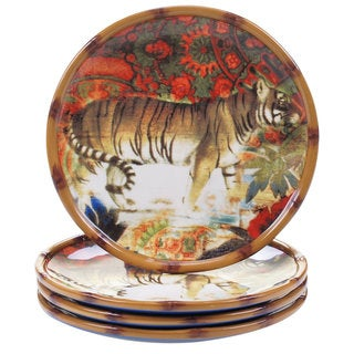 Tracy Porter for Poetic Wanderlust 'Imperial Bengal' Earthenware 8.5-inch Dessert Plates (Pack of 4)