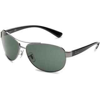 Ray-Ban RB3386 004/71 Gunmetal/Black Frame Green Classic 67mm Lens Sunglasses